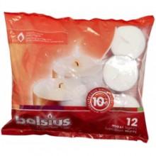 BOLS MAXI TEALIGHTS WHITE 12s