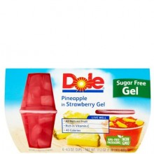 DOLE GEL PINEAPPLE STRAWBERRY 4x4oz