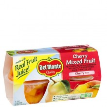 DEL MONTE MIXED FRUIT CHERRY GEL 4x4oz