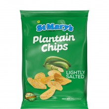 ST MARYS PLANTAIN CHIPS LIGHTLY SALT 40g