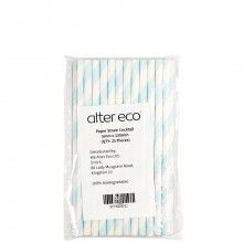 ALTER ECO PAPER STRAW COCKTAIL 25ct