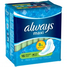 ALWAYS MAXI SUPER W/W 16s