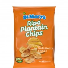 ST MARYS RIPE PLANTAIN CHIPS NAT SWT 40g