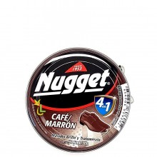 NUGGET SHOE POLISH DARK BROWN 30g