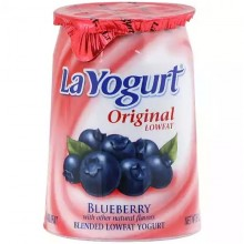 LA YOGURT LOW FAT BLUEBERRY 6oz