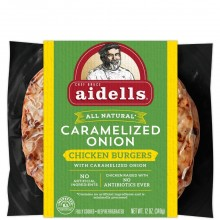 AIDELLS CHIC BURGER CARMLIZED ONION 12oz